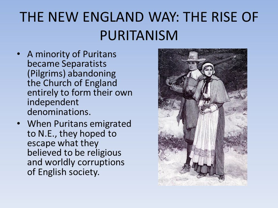THE NEW ENGLAND WAY: THE RISE OF PURITANISM