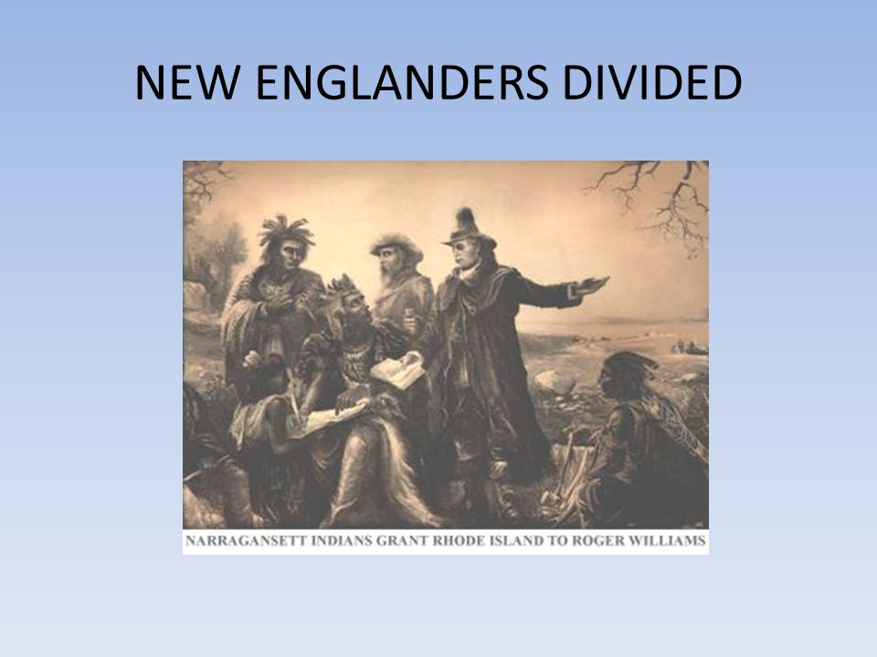 NEW ENGLANDERS DIVIDED