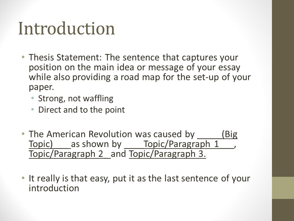 american revolution thesis statement The american theses was drafted with the aim of educating the wave of new swp recruits in the party's fundamental revolutionary perspectives the american revolution with its hundredfold greater power will set in motion revolutionary forces that will change the face of our planet.