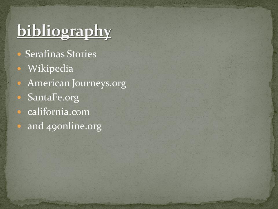 bibliography Serafinas Stories Wikipedia American Journeys.org