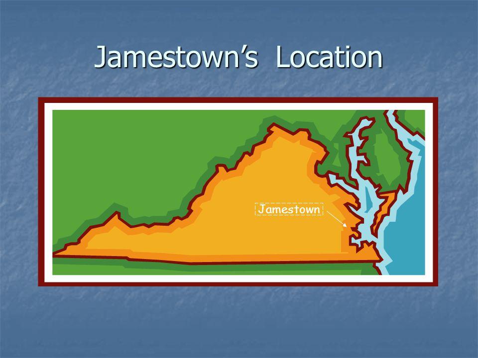 Jamestown's Location Jamestown