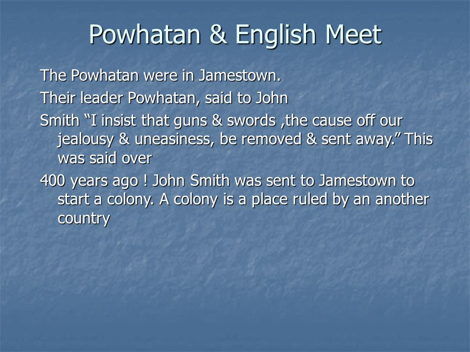 Powhatan & English Meet
