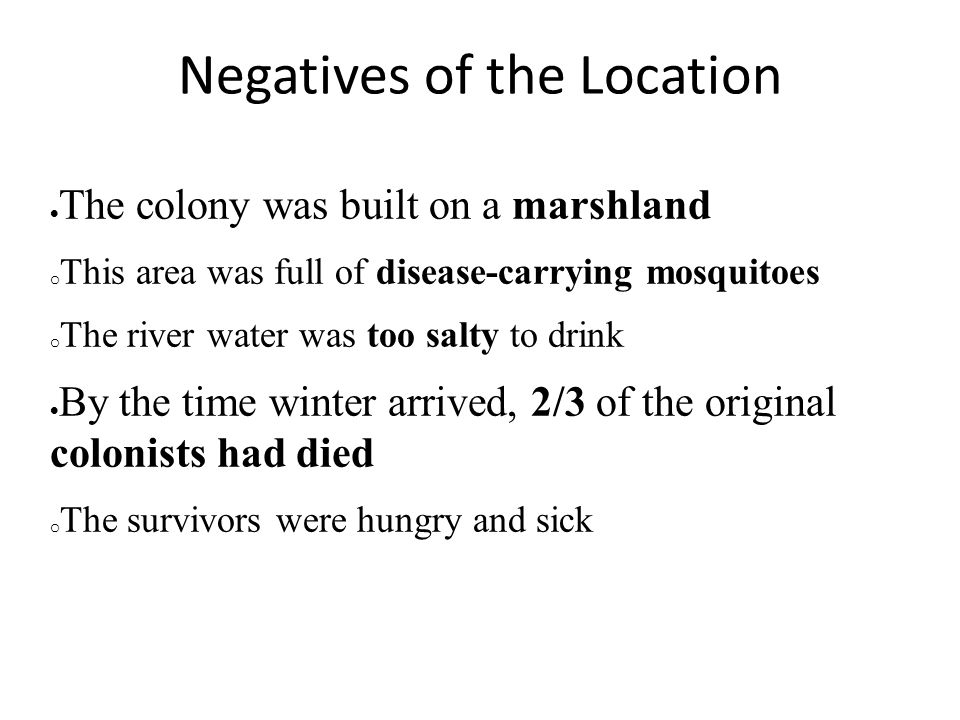 Negatives of the Location