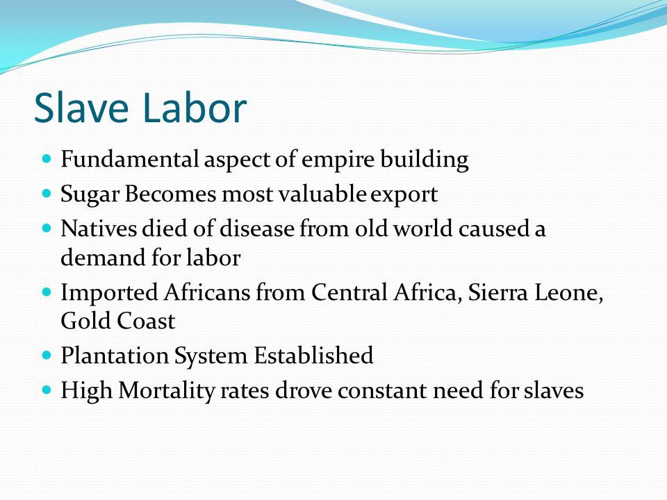 Slave Labor Fundamental aspect of empire building