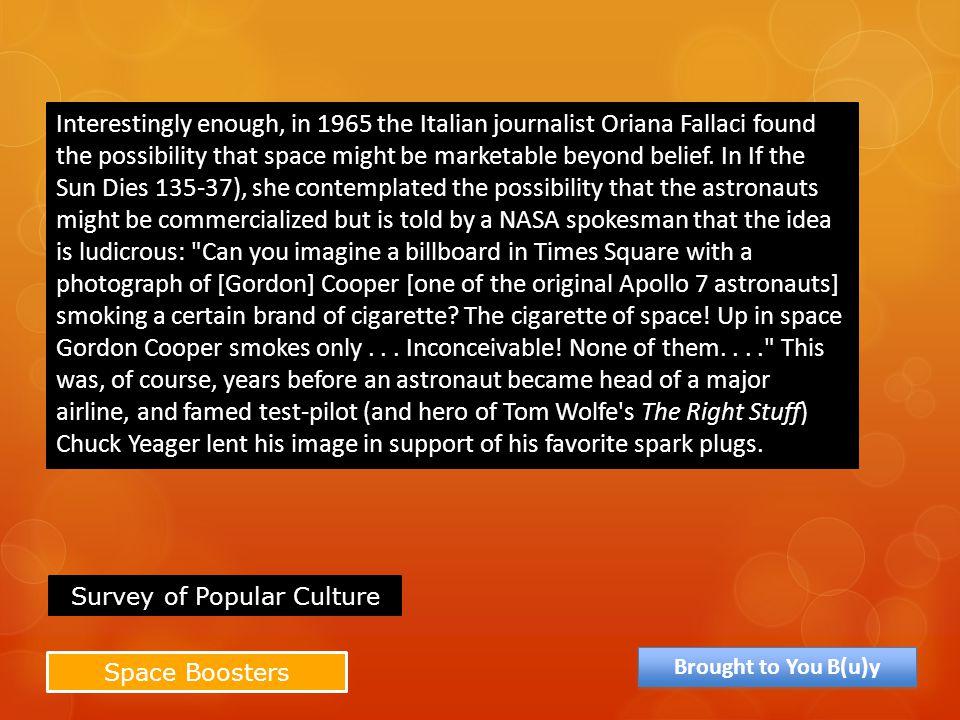Survey of Popular Culture