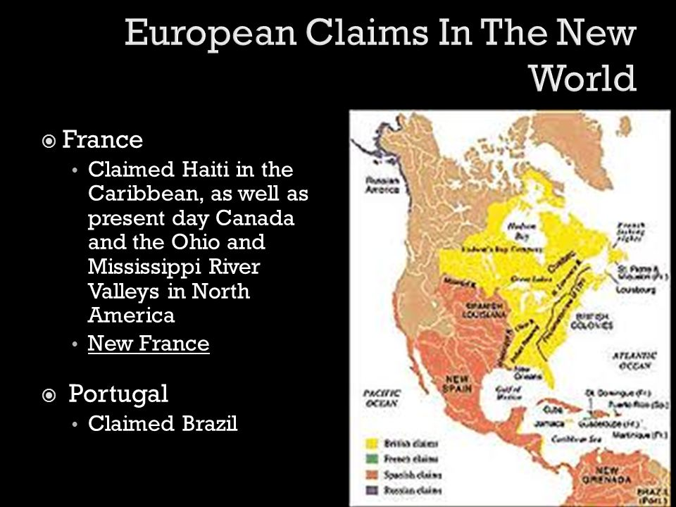 European Claims In The New World