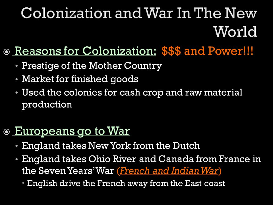 Colonization and War In The New World
