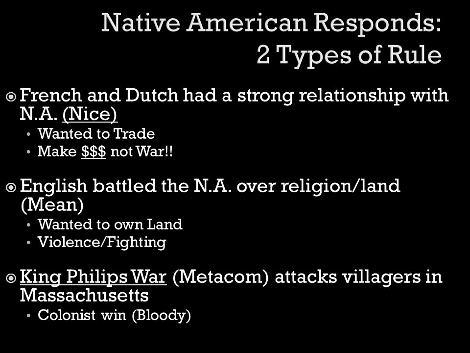 Native American Responds: 2 Types of Rule