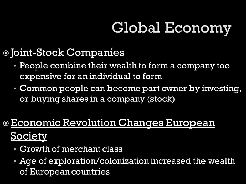 Global Economy Joint-Stock Companies