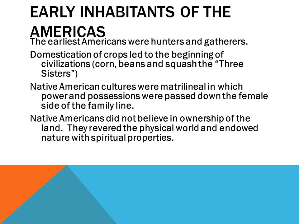 Early Inhabitants of the Americas