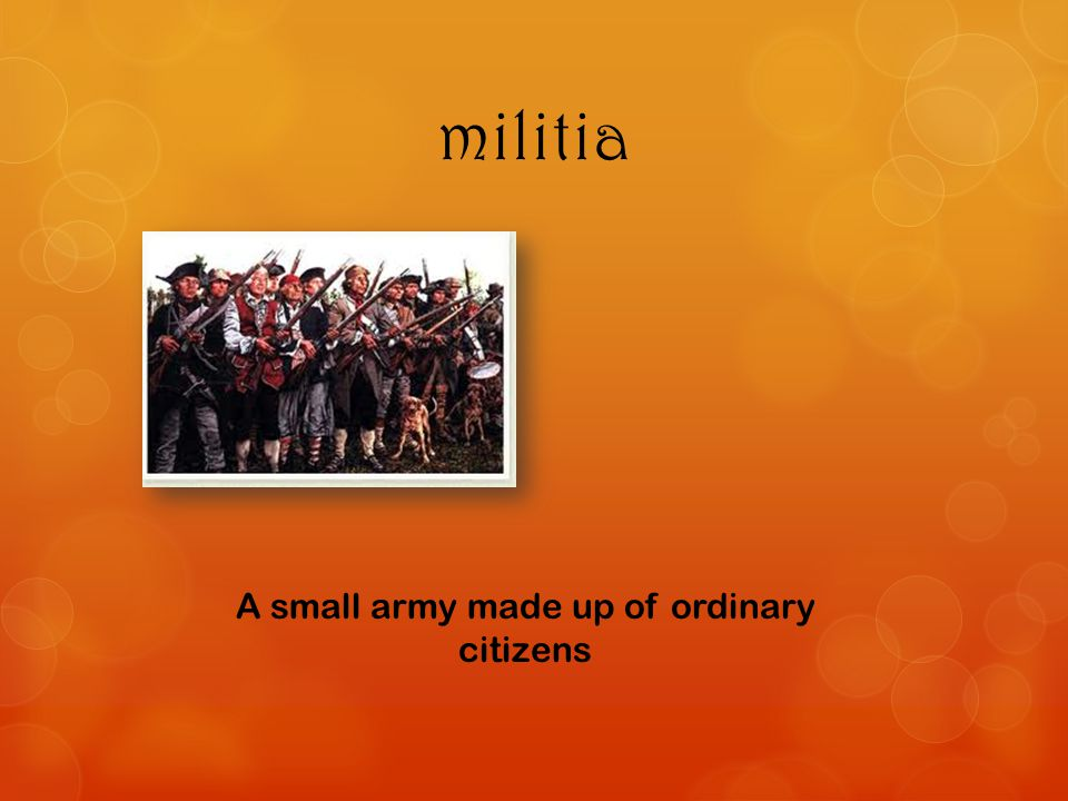A small army made up of ordinary citizens