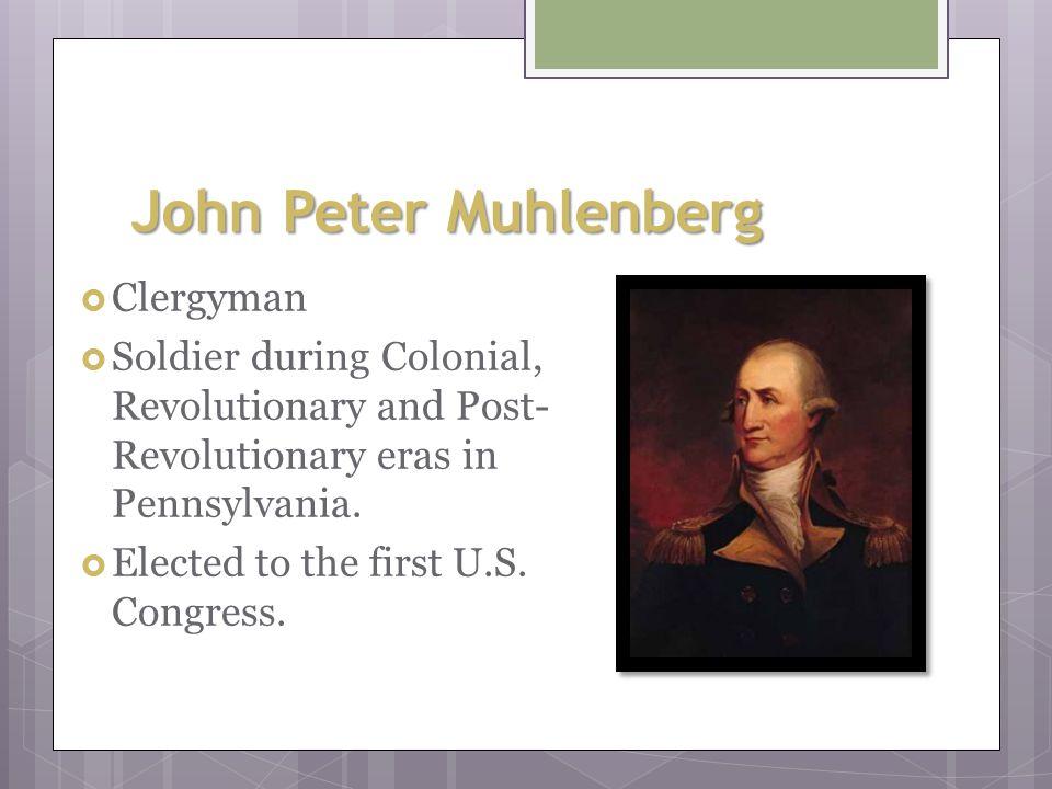 John Peter Muhlenberg Clergyman