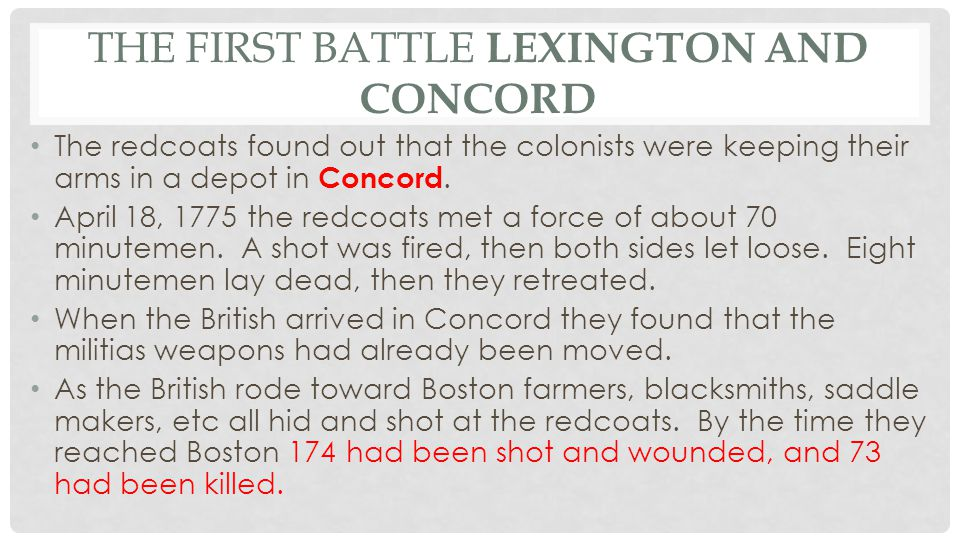 The First Battle Lexington and Concord