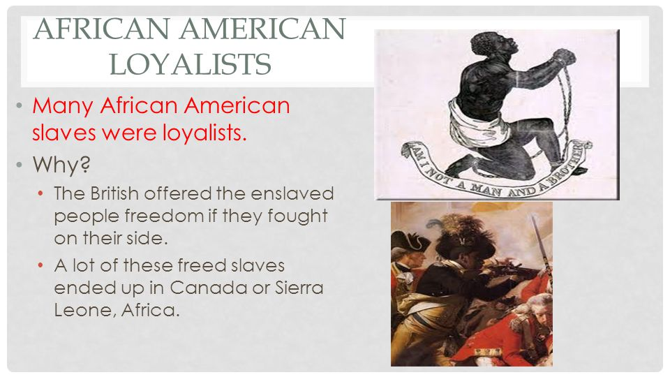 African American Loyalists