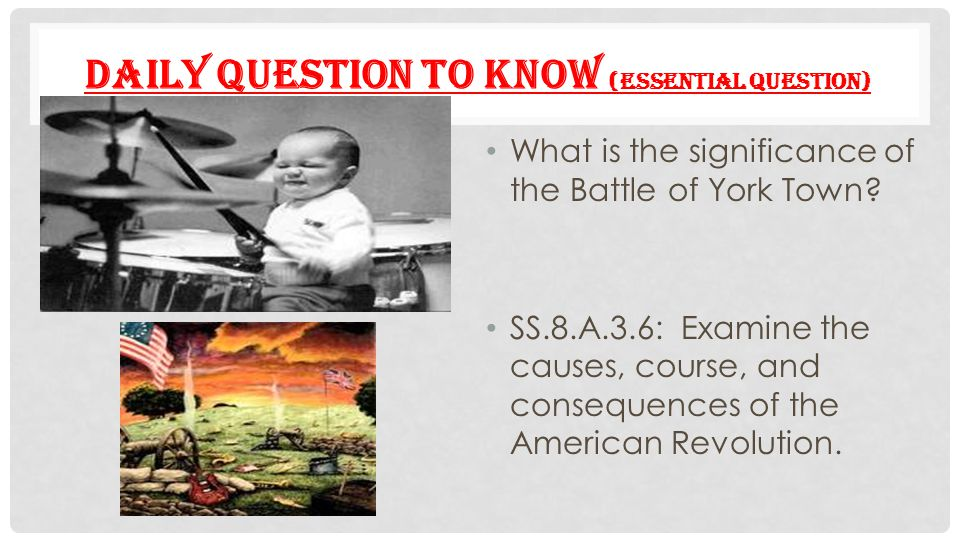 Daily Question to Know (Essential question)