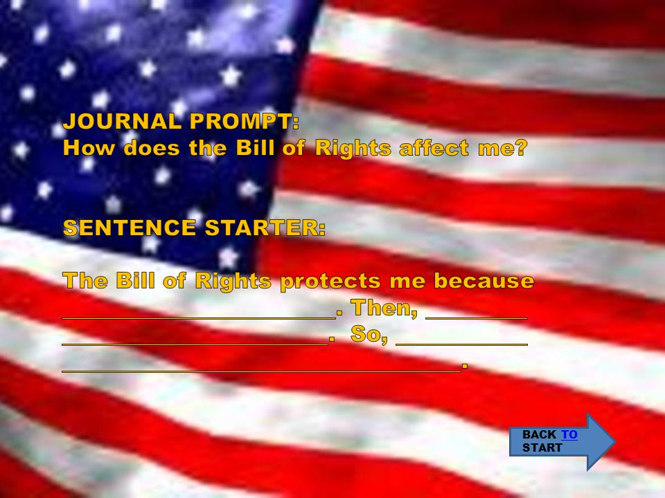 How does the Bill of Rights affect me