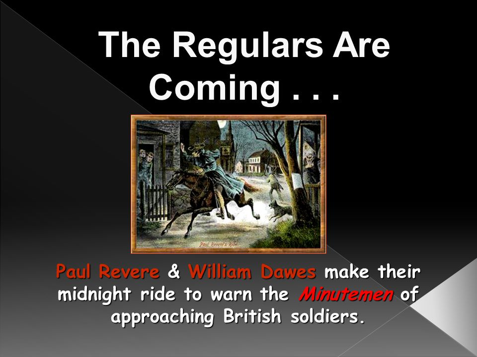 The Regulars Are Coming . . .