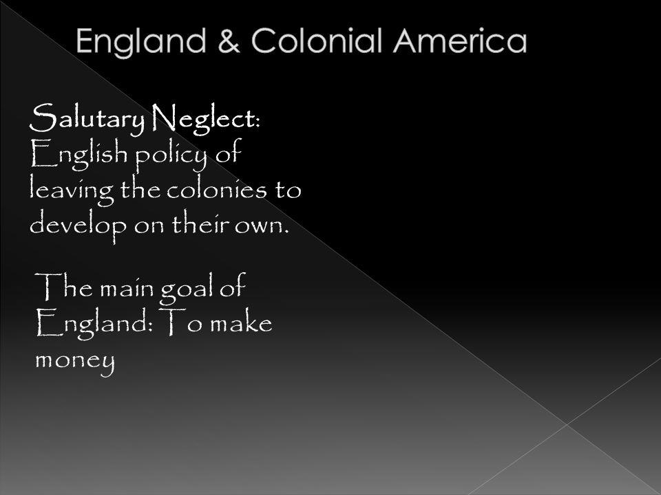 England & Colonial America