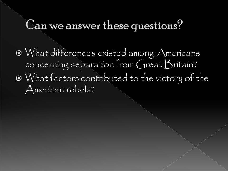 Can we answer these questions