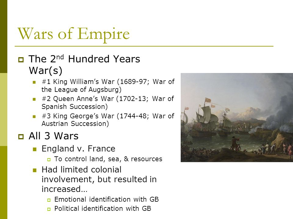 Wars of Empire The 2nd Hundred Years War(s) All 3 Wars