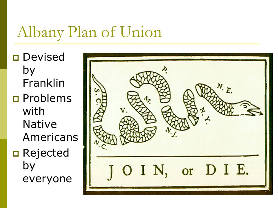 Albany Plan of Union Devised by Franklin