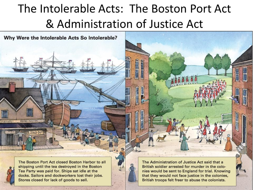 The Intolerable Acts: The Boston Port Act & Administration of Justice Act