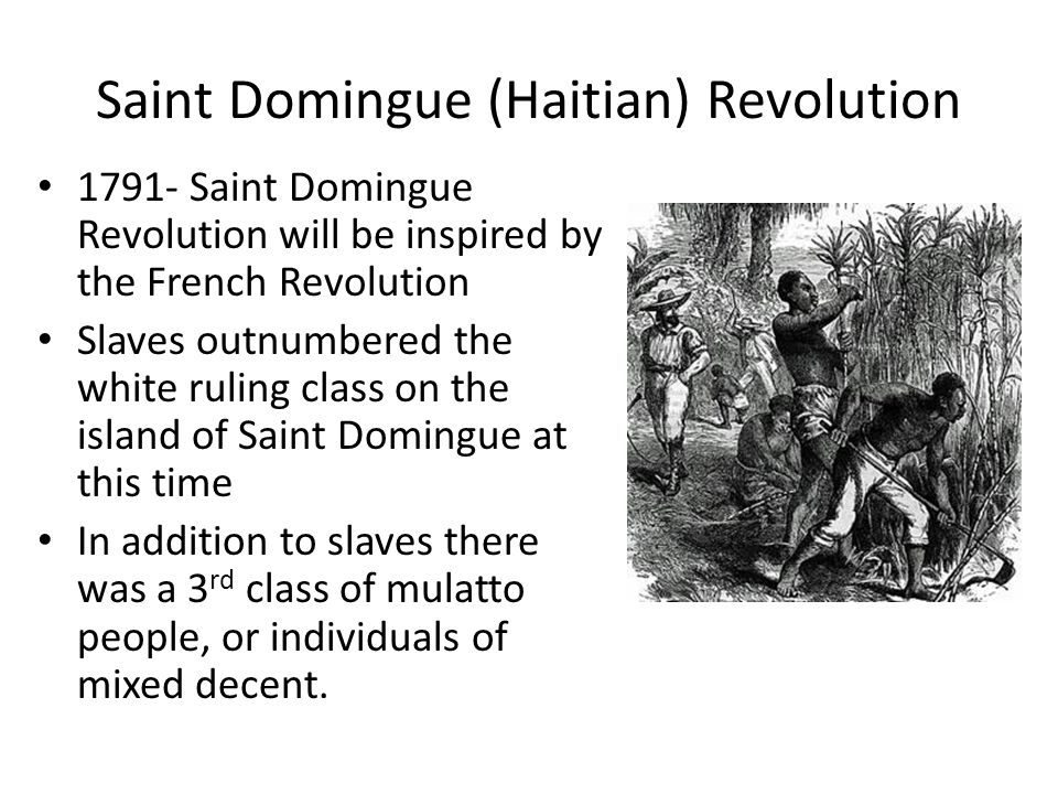 Saint Domingue (Haitian) Revolution