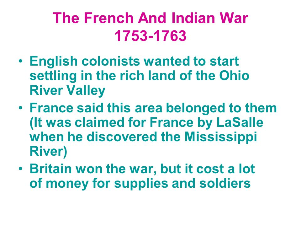 The French And Indian War 1753-1763