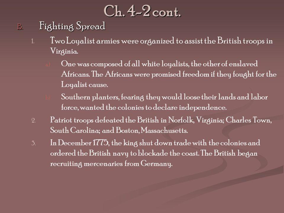 Ch. 4-2 cont. Fighting Spread