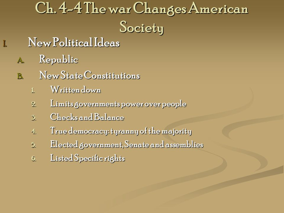Ch. 4-4 The war Changes American Society