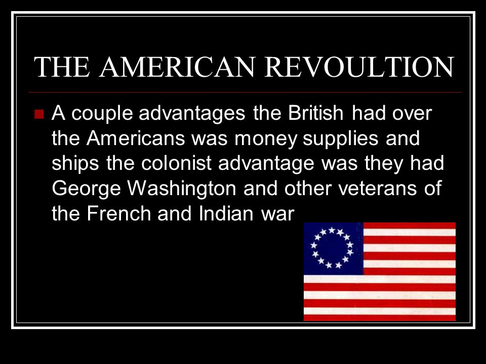 THE AMERICAN REVOULTION