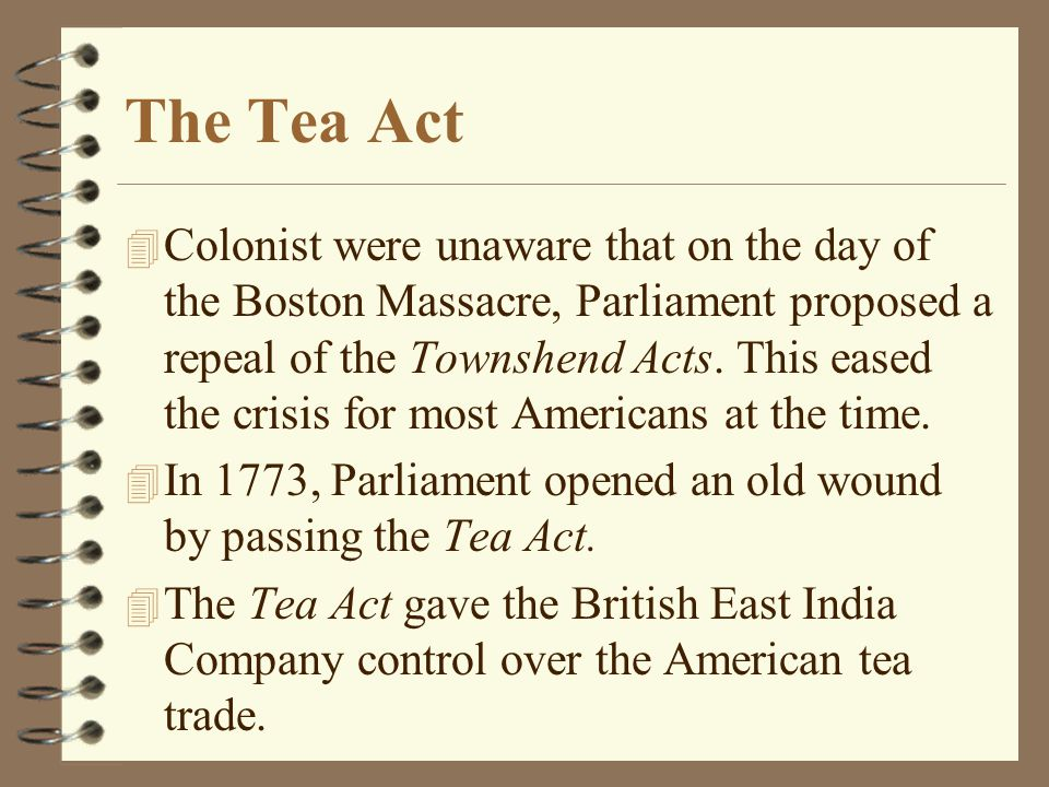 The Tea Act