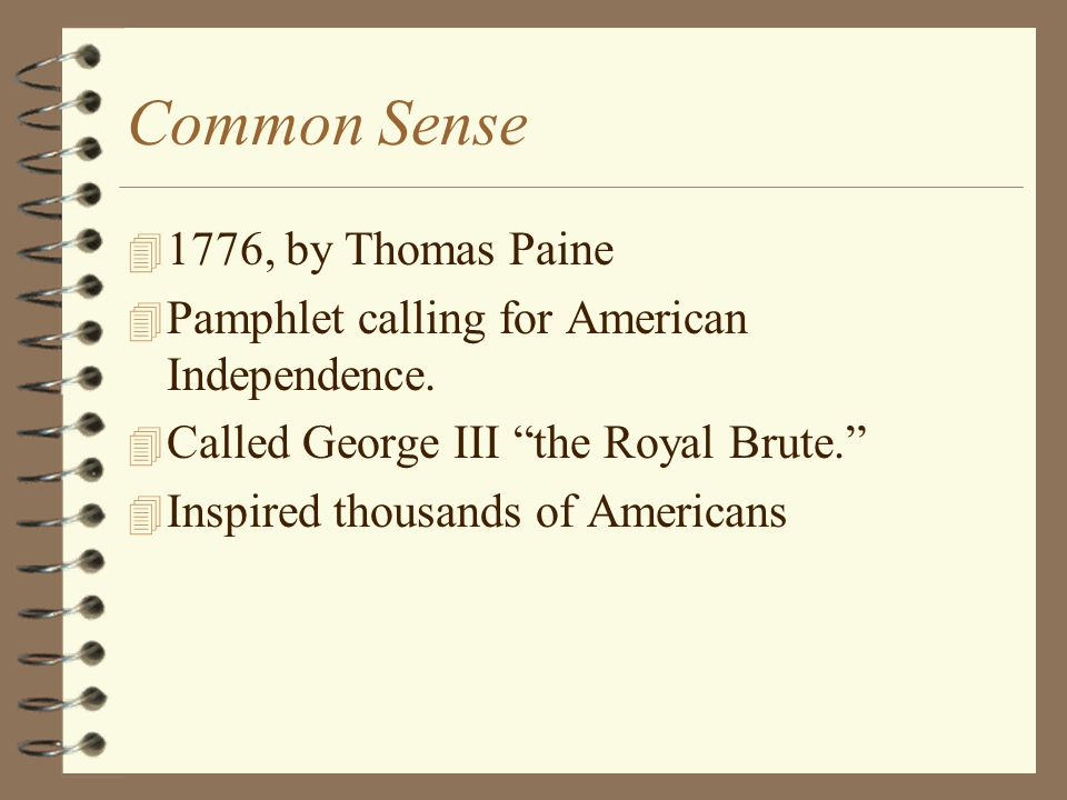 Common Sense 1776, by Thomas Paine