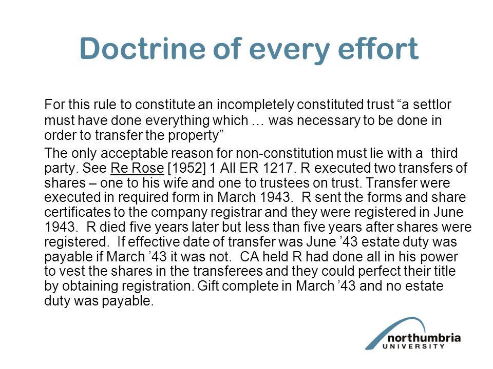 Doctrine of every effort
