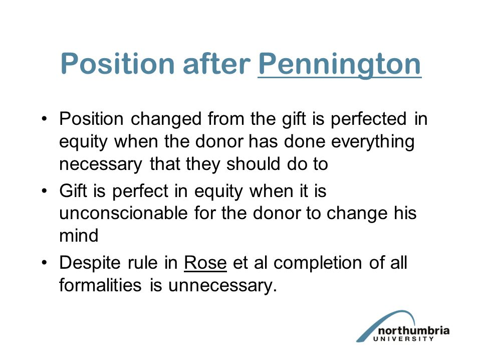 Position after Pennington