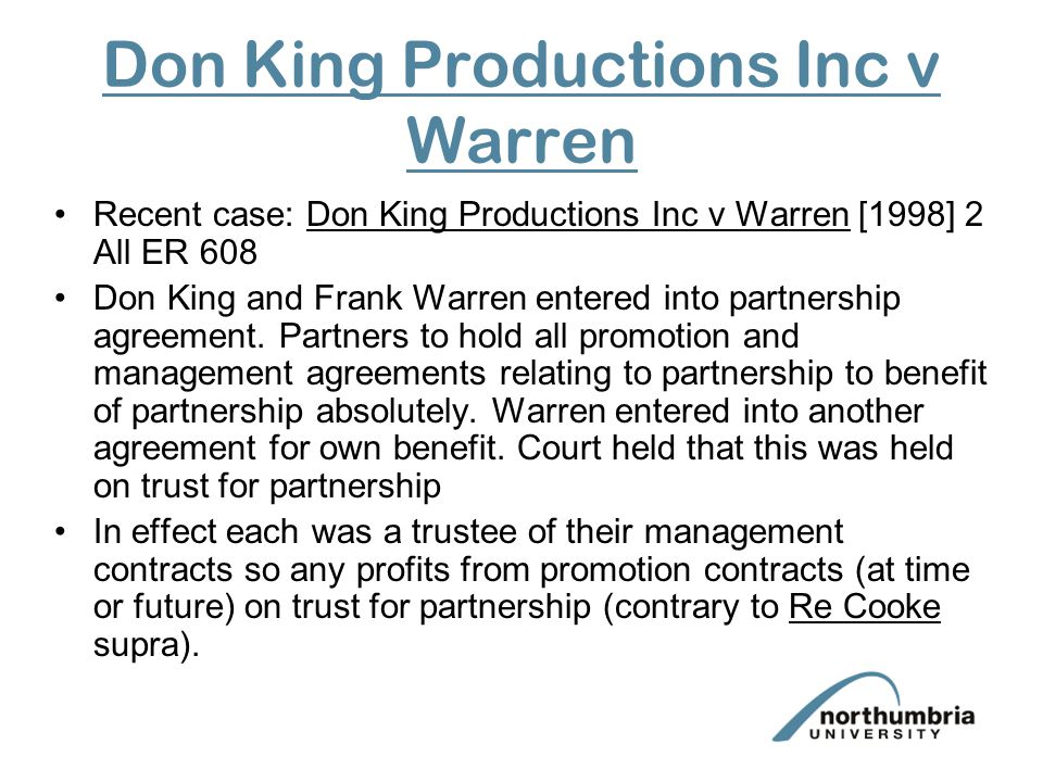 Don King Productions Inc v Warren