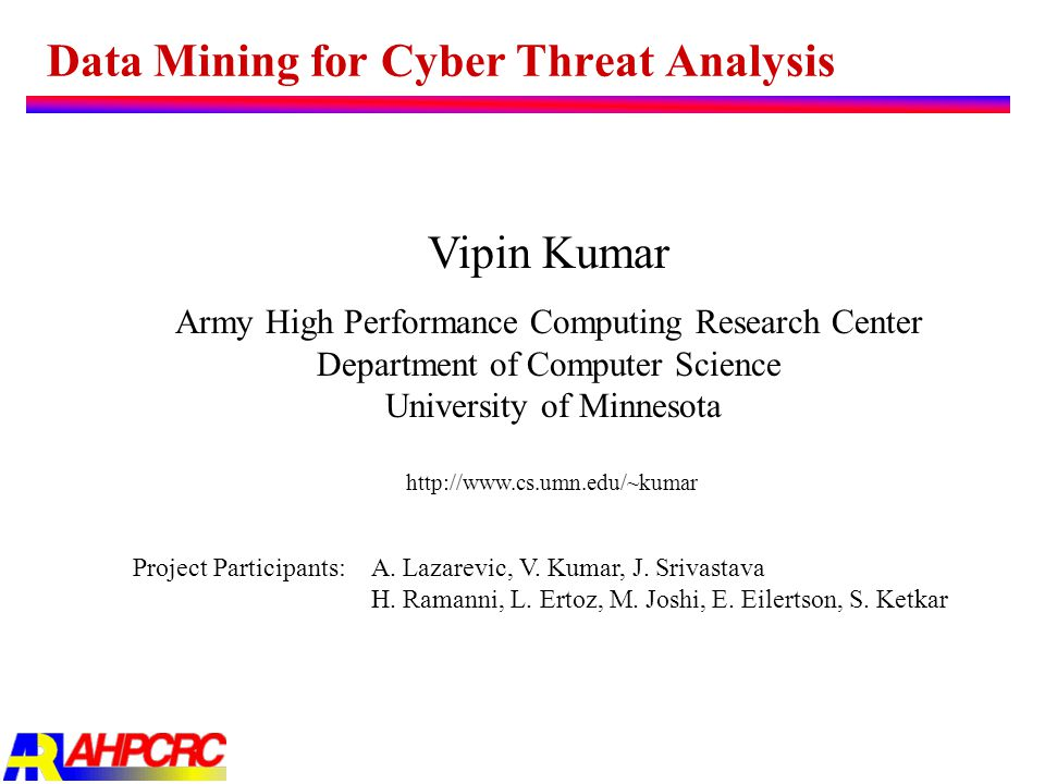 Data Mining for Cyber Threat Analysis