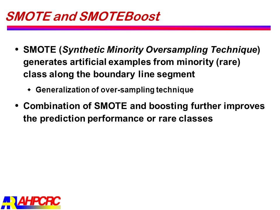 SMOTE and SMOTEBoost