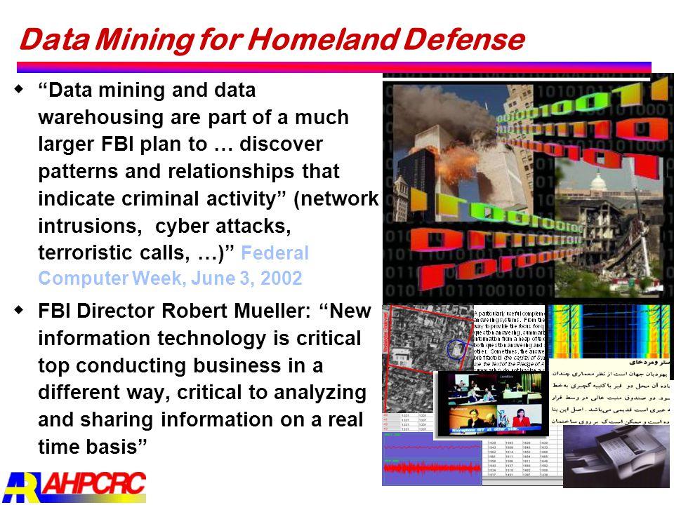 Data Mining for Homeland Defense