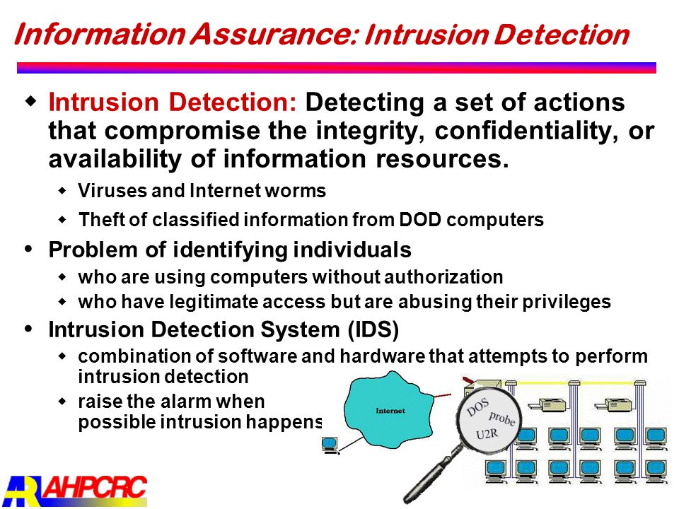 Information Assurance: Intrusion Detection