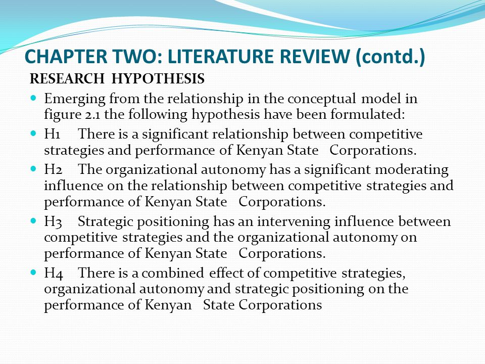 chapter two and review related literature