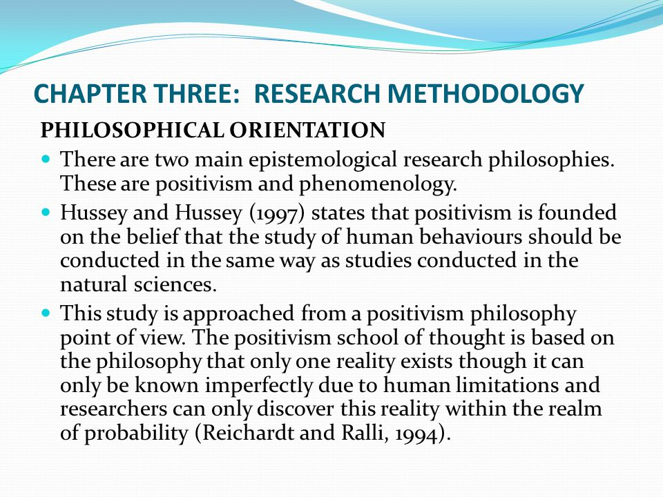 thesis methodologies