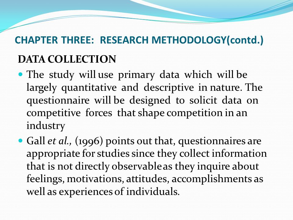 methodology sample dissertation