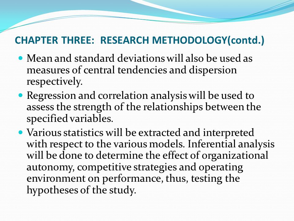 CHAPTER THREE: RESEARCH METHODOLOGY(contd.)