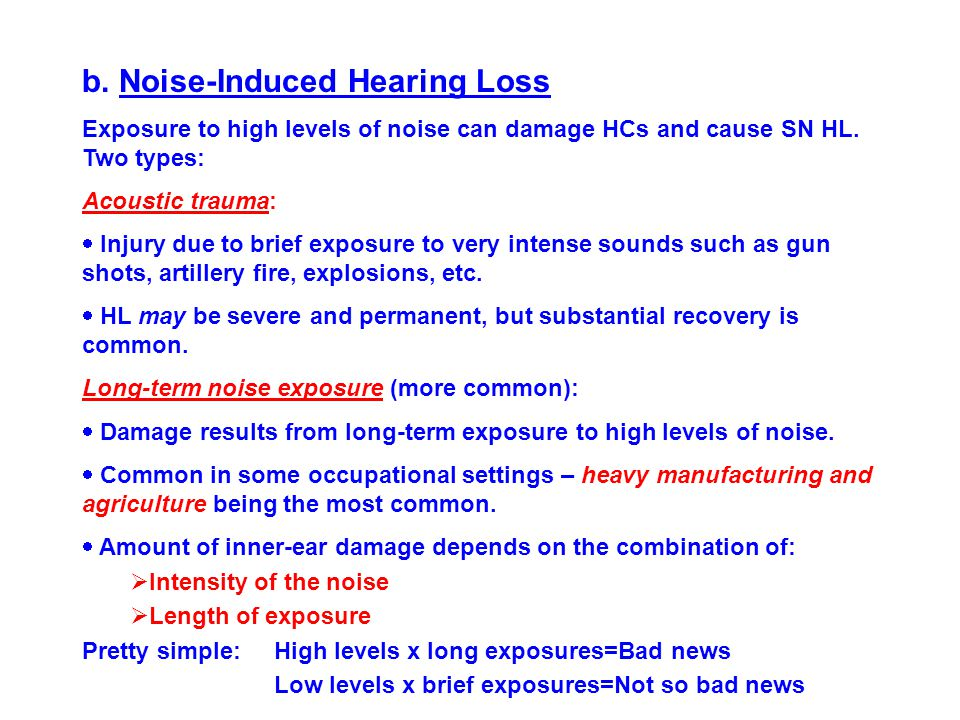 b. Noise-Induced Hearing Loss