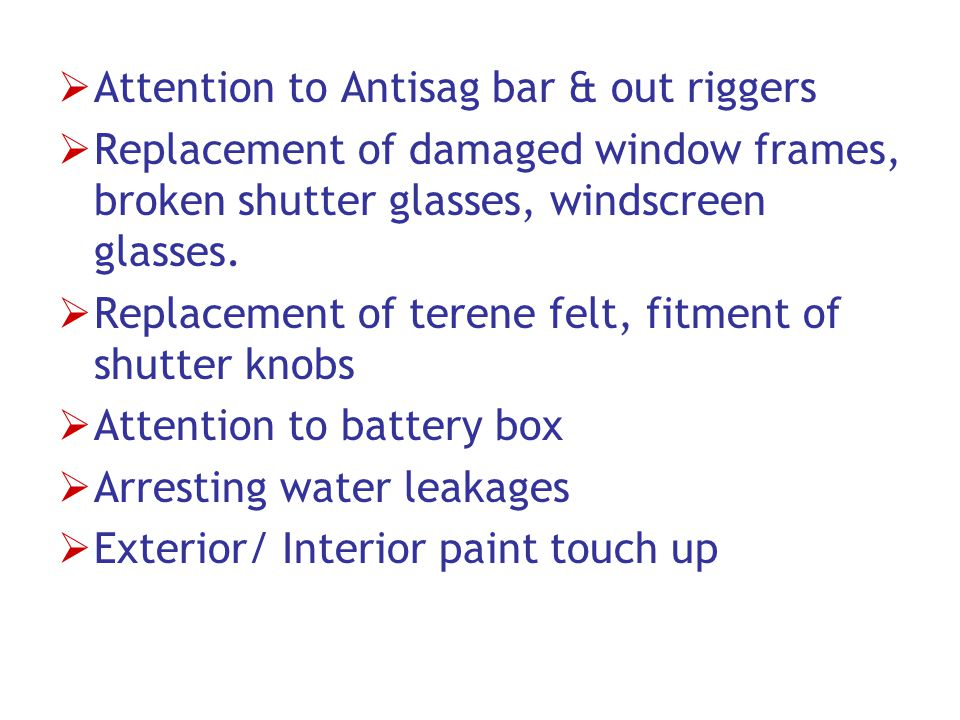 Attention to Antisag bar & out riggers