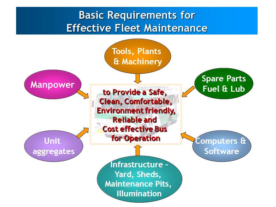 Basic Requirements for Effective Fleet Maintenance