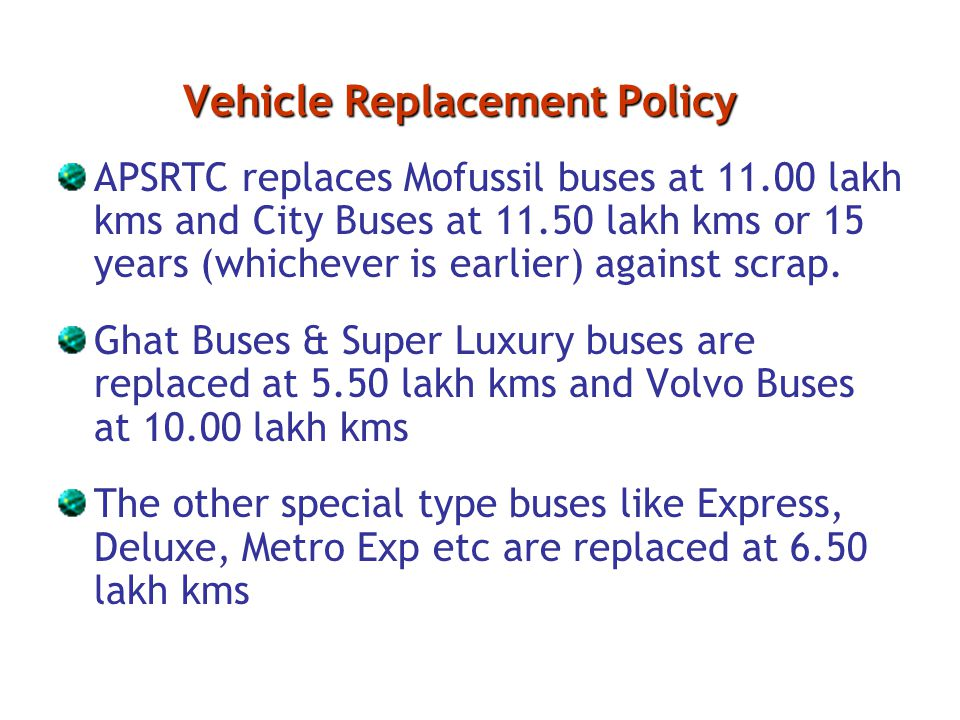 Vehicle Replacement Policy