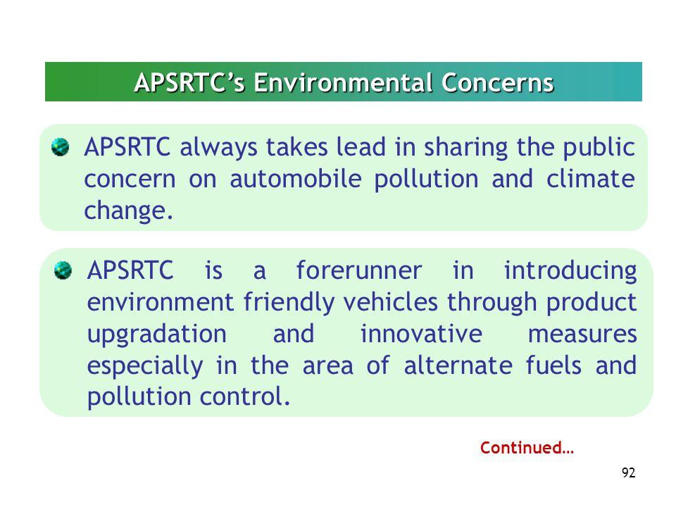 APSRTC's Environmental Concerns