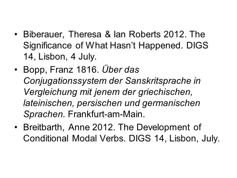 Biberauer, Theresa & Ian Roberts 2012